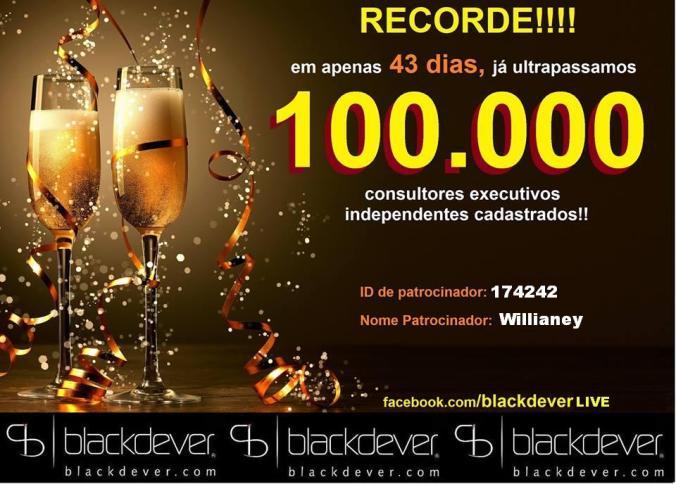 Blackdever bate novo recorde 100 mil