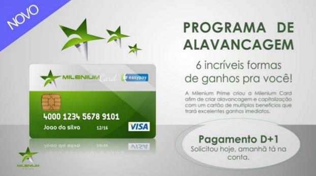 cartão Milennium do programa de alavancagem